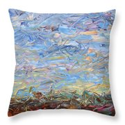 Soil Turmoil Throw Pillow by James W Johnson