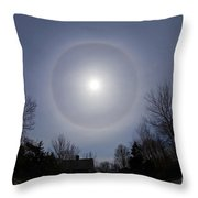 Solar Halo Throw Pillow by Chris Cook