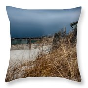 Solitude on the Cape Throw Pillow by Jeff Folger