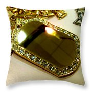 Some Shiny Thing Throw Pillow by Marcello Cicchini