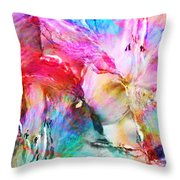 Somebody's Smiling - Abstract Art Throw Pillow by Jaison Cianelli