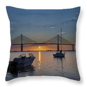 Something About A Sunrise Throw Pillow by Bill Cannon