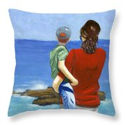 Son Of A Sailor Throw Pillow by Karyn Robinson