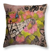 Song Of My Heart And Soul Throw Pillow by Meldra Driscoll