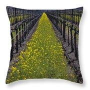 Sonoma Mustard Grass Throw Pillow by Garry Gay