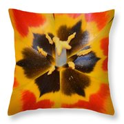 Soul Of A Tulip Throw Pillow by Sonali Gangane