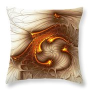 Souls Of The Dragons Throw Pillow by Anastasiya Malakhova