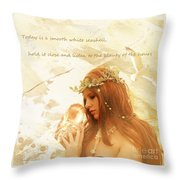 Sounds Of The Sea Throw Pillow by Linda Lees