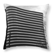 Soutfield Round Hi Rise Black And White Throw Pillow by Bill Woodstock