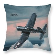 South Pacific Hot Rods Throw Pillow by Wade Meyers