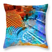 South Theatre Jordan Throw Pillow by Catf