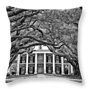 Southern Class Monochrome Throw Pillow by Steve Harrington