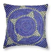 Southwestern Basket Detail Throw Pillow by Carol Leigh