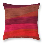 Southwestern Sunset Abstract Throw Pillow by Bonnie Bruno