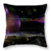 Space Abstraction Throw Pillow by David Lane