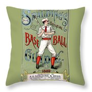 Spalding Baseball Ad 1189 Throw Pillow by Unknown