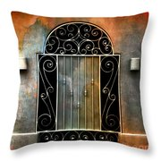 Spanish Influence Throw Pillow by Barbara Chichester