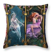 Sparkling Jewels Throw Pillow by Drazenka Kimpel