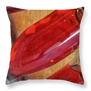 Sparkling Rose On Riddling Rack Throw Pillow by Etta Jean Juge