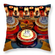 Special When Lit Throw Pillow by Benjamin Yeager