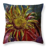 Spent Sunflower Throw Pillow by David Patterson