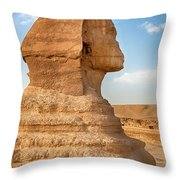 Sphinx profile Throw Pillow by Jane Rix