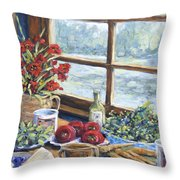 Spice Table By Prankearts Throw Pillow by Richard T Pranke