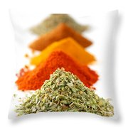 Spices Throw Pillow by Elena Elisseeva