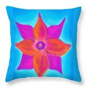 Spiral Flower Throw Pillow by Daina White