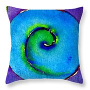 Spiral I Throw Pillow by James Elmore