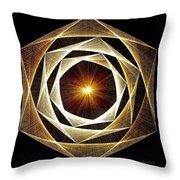 Spiral Scalar Throw Pillow by Jason Padgett