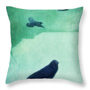 Spirit Bird Throw Pillow by Priska Wettstein