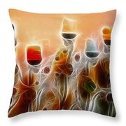 Spiritual Candles Throw Pillow by Music of the Heart