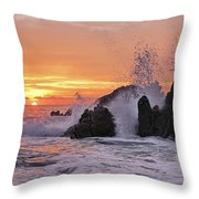Splash  Throw Pillow by Marcia Colelli