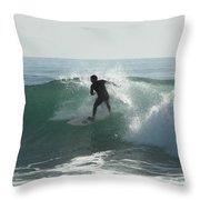Splash Zone Throw Pillow by Donna Blackhall
