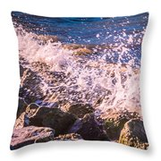 Splashes Throw Pillow by Dawn OConnor