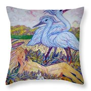 Splendor In The Grass  2 Throw Pillow by Gunter  Hortz