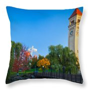 Spokane Fall Colors Throw Pillow by Inge Johnsson