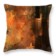 Spontaneous Combustion Throw Pillow by Sydne Archambault