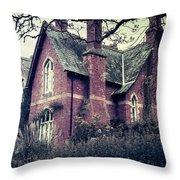 Spooky House Throw Pillow by Joana Kruse