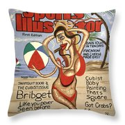 Sports Illustrator Swimsuit Edition Throw Pillow by Anthony Falbo