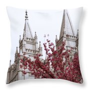 Spring At The Temple Throw Pillow by Chad Dutson