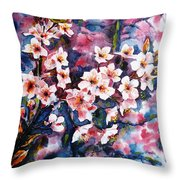 Spring Beauty Throw Pillow by Zaira Dzhaubaeva