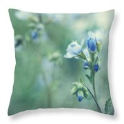 Spring Blues Throw Pillow by Priska Wettstein