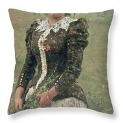 Spring Bouquet Throw Pillow by Ilya Efimovich Repin