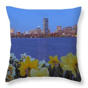 Spring Into Boston Throw Pillow by Juergen Roth