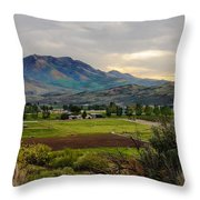Spring Time In The Valley Throw Pillow by Robert Bales