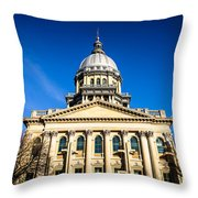 Springfield Illinois State Capitol Building Throw Pillow by Paul Velgos
