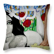 Springs Bloom Throw Pillow by Amy Sorrell
