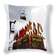 Spuds Throw Pillow by Skip Willits